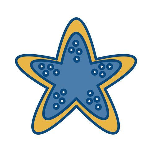 icône étoile de mer vecteur