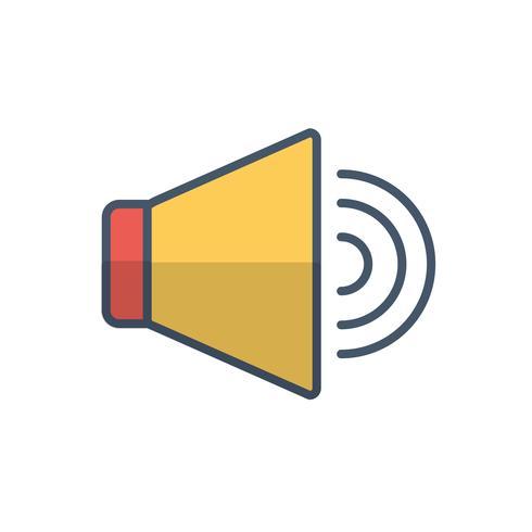image d'icône de haut-parleur vecteur