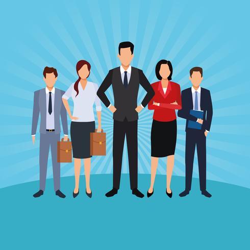 caricature d'hommes exécutifs vecteur