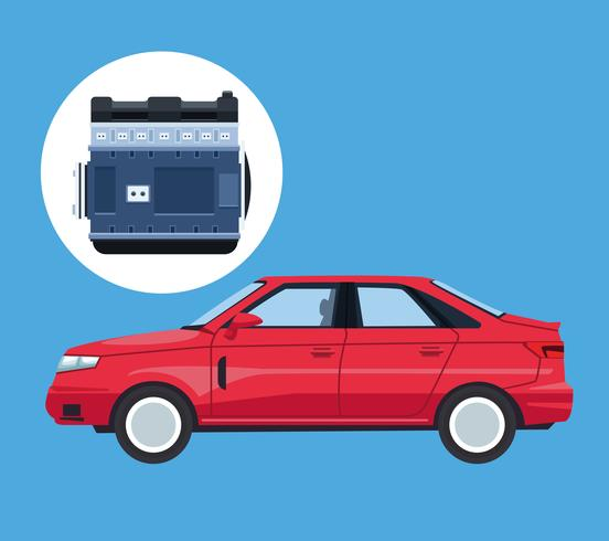 Usine automobile et ses pièces vecteur