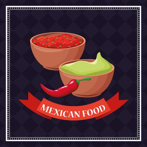Carte alimentaire mexicaine vecteur