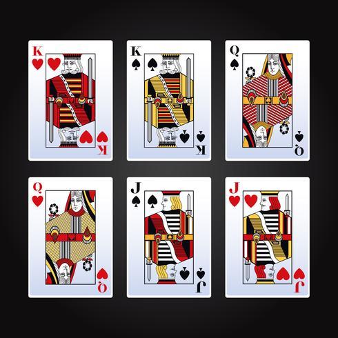 Jeu de cartes de poker vecteur