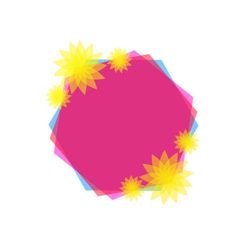 Illustration vectorielle de beau cadre vecteur
