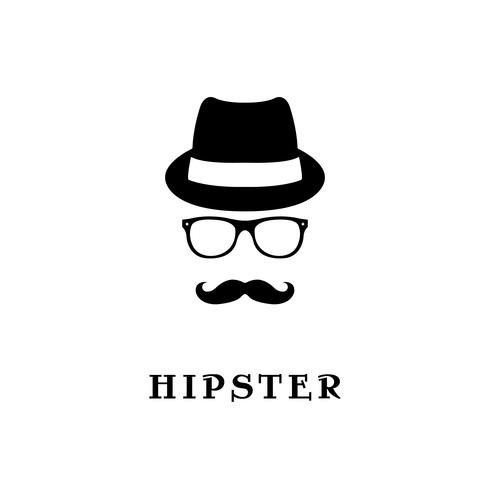 Hipster de silhouette de mode. vecteur