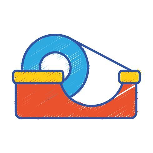 conception d'objet de ruban adhésif transparent vecteur