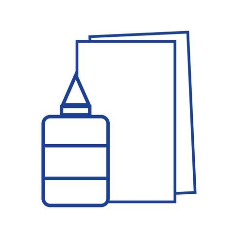 silhouette de la colle et du carton scolaire vecteur