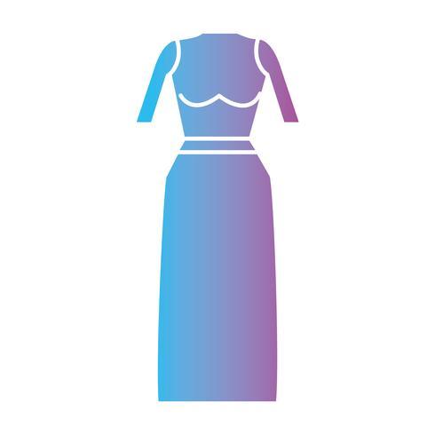 conception de style de vêtements femme silhouette vecteur