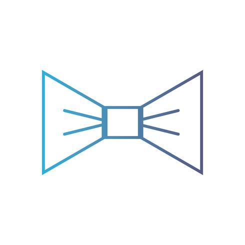 ligne belle conception de style de noeud papillon vecteur
