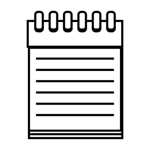 ligne cahier design objet à écrire vecteur