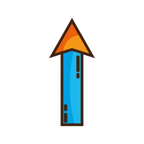 couleur web flèche en haut icône de chargement vecteur