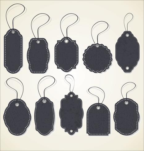 Collection rétro d'étiquette de prix de papier vecteur