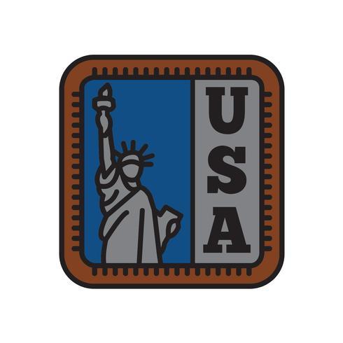 Collections d'insignes de pays, symbole de la liberté du grand pays vecteur