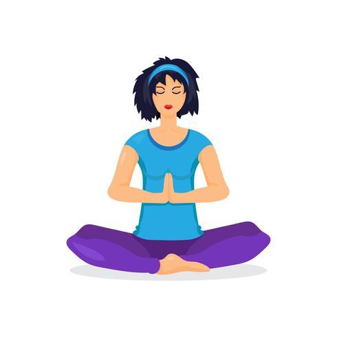 Femme yoga formation vecteur