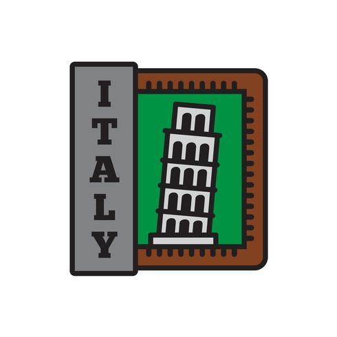 Collections d'insignes de pays, Pise, symbole du grand pays vecteur