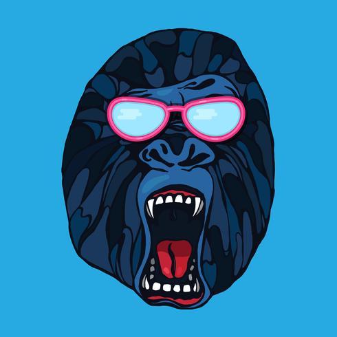 Grattement du gorille vecteur