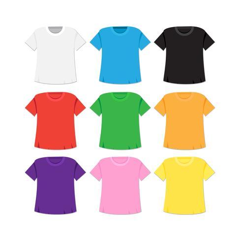 Modèle de t-shirt et maquette vecteur