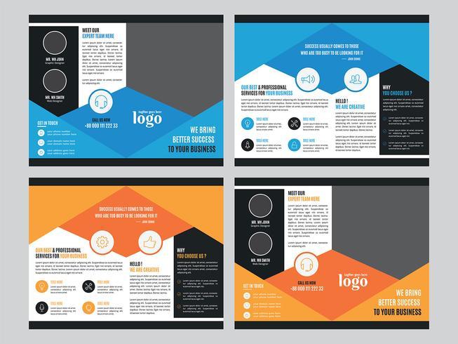 Modèle de Brochure de bifold coloré d'entreprise vecteur