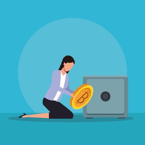 Technologie de crypto-monnaie Bitcoin vecteur