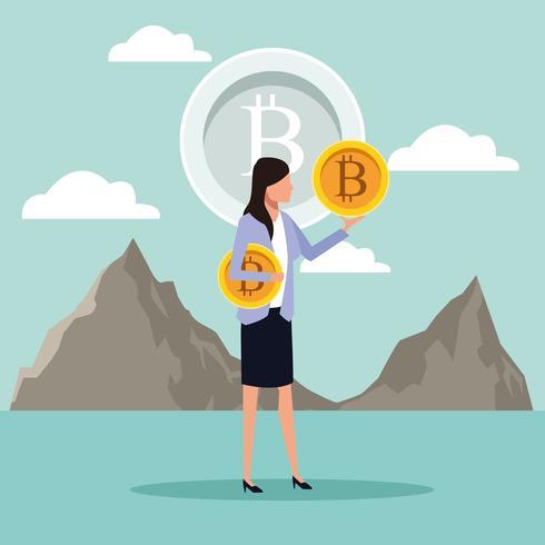 exploitation minière numérique bitcoin vecteur