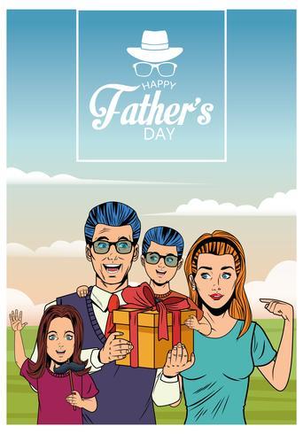 Carte de fête des pères vecteur