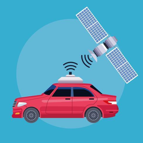 concept de service de voiture emplacement gps vecteur