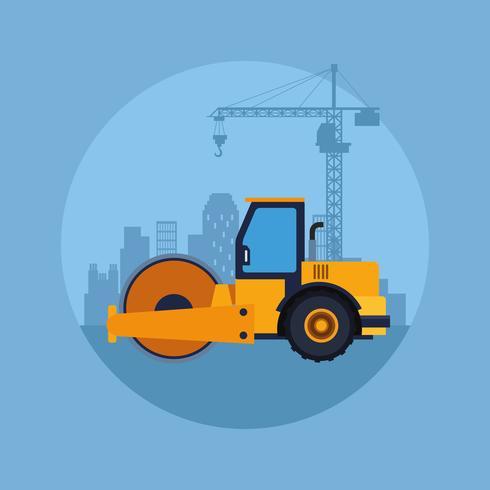 caricature de véhicule de construction vecteur