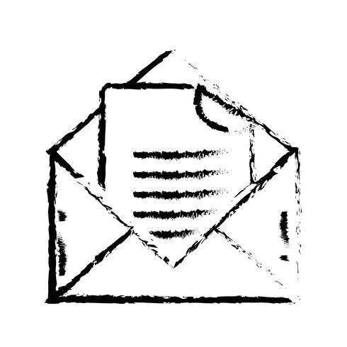 figure e-mail avec informations sur le document vecteur
