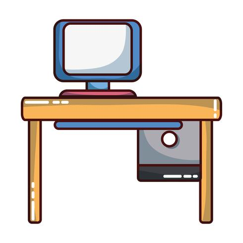 Bureau Avec Informatique Et Bureau En Bois Telecharger Vectoriel Gratuit Clipart Graphique Vecteur Dessins Et Pictogramme Gratuit