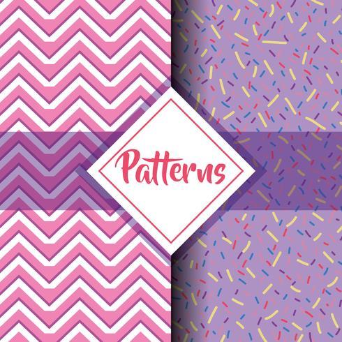 définir des motifs géométriques modernes design graphique vecteur