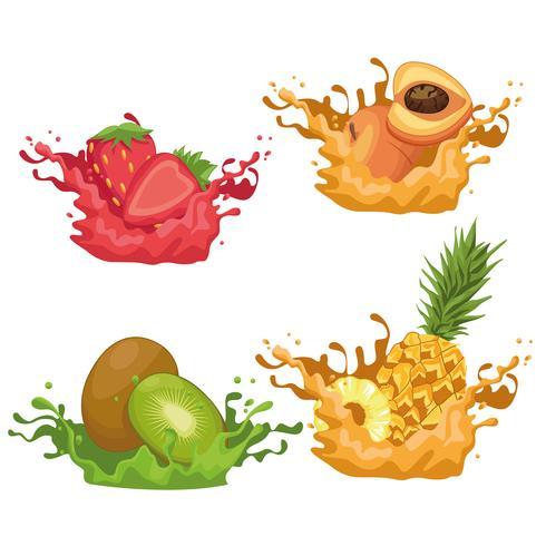 smoothies aux fruits vecteur