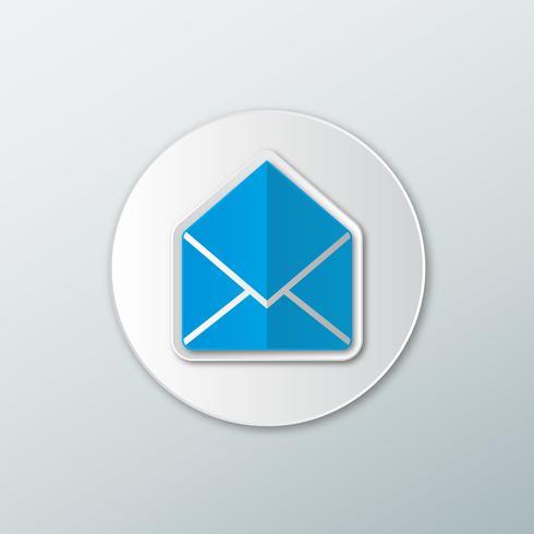 Icône de lettre ouverte vecteur