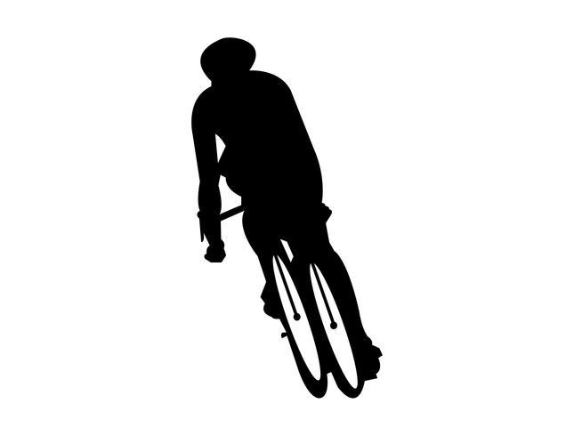 Cycliste, vélo vecteur