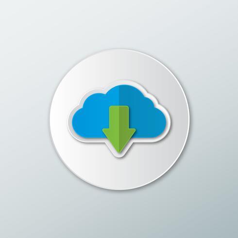 Téléchargement d'icône depuis le cloud vecteur