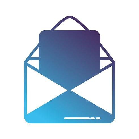 message de carte de silhouette avec information de document de lettre vecteur