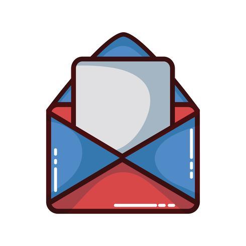 message de carte avec informations de document lettre vecteur