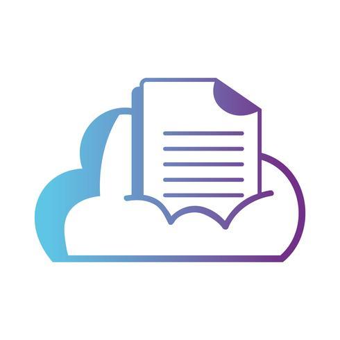 données de nuages en ligne avec informations de documents numériques vecteur