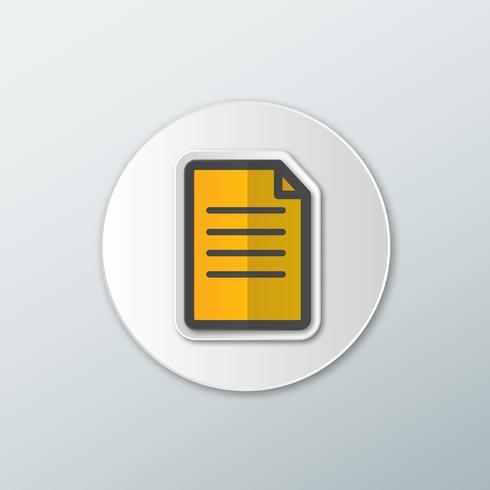 Icône du document papier vecteur