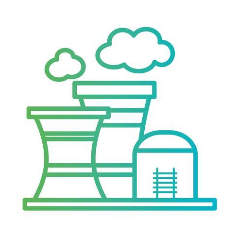 ligne toxique usine industrie de la pollution vecteur