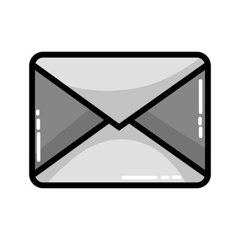 message de carte de lettre en niveaux de gris fermé avec informations de document vecteur