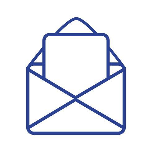 message de carte de ligne avec informations de document lettre vecteur