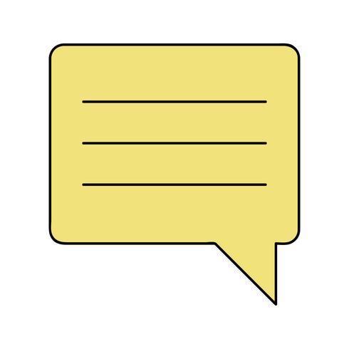 couleur chat bulle notes texto vecteur