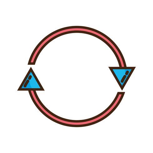 flèches de couleur en cercle symbole de progression du chargement vecteur