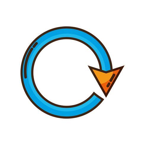 couleur flèche cercle signe chargement en cours vecteur