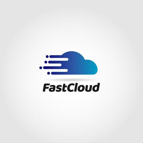 logo de nuage de données rapide vecteur