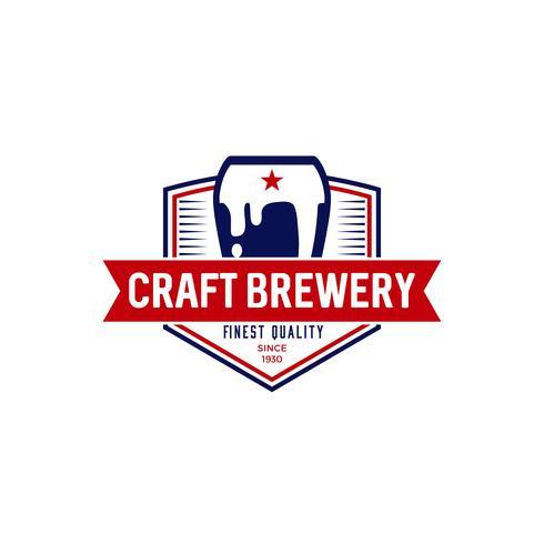 Logo de la brasserie artisanale vecteur