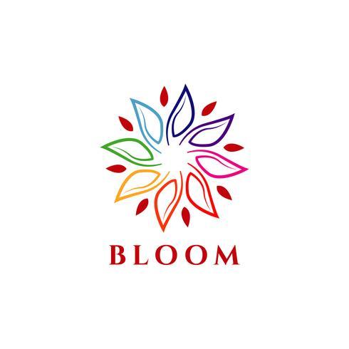 Logo Bloom coloré vecteur