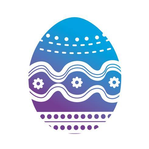 ligne oeufs de Pâques à la fête traditionnelle vecteur