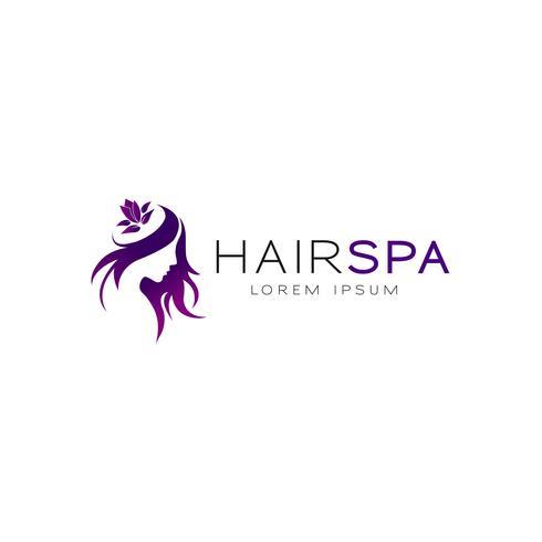 logo spa de cheveux vecteur