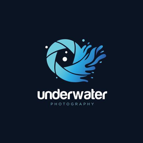 Logo de photographie sous-marine vecteur
