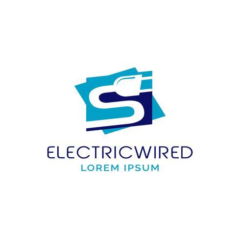 Logo de prise électrique vecteur